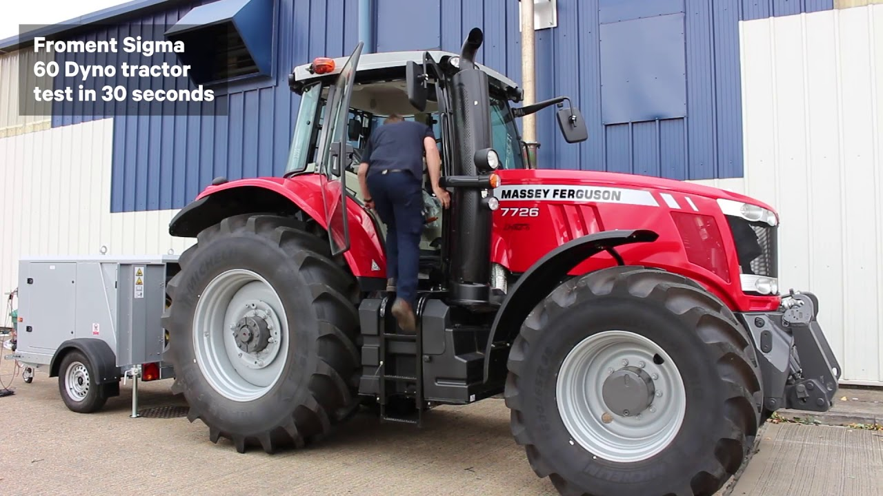 Dyno For Tractors : Testing a tractor with froment dynamometer in seconds