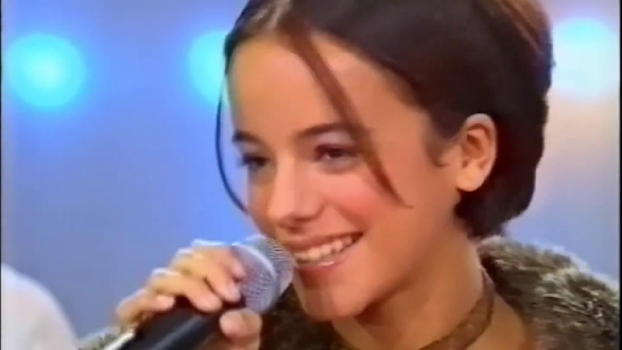 """07/10/2000 - Alizée sur le plateau de """"Tapis Rouge"""""""