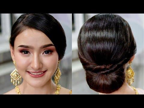 Thai Wedding Hair Style Classy Hairstyle Tutorial ทรงผมเจ าสาวช ดไทย โดย คร หญ ง ภ ครา