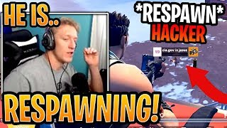 Tfue Shocked at *NEW* RESPAWNING HACKER that Kept Stream Sniping Him! - Fortnite Funny Moments