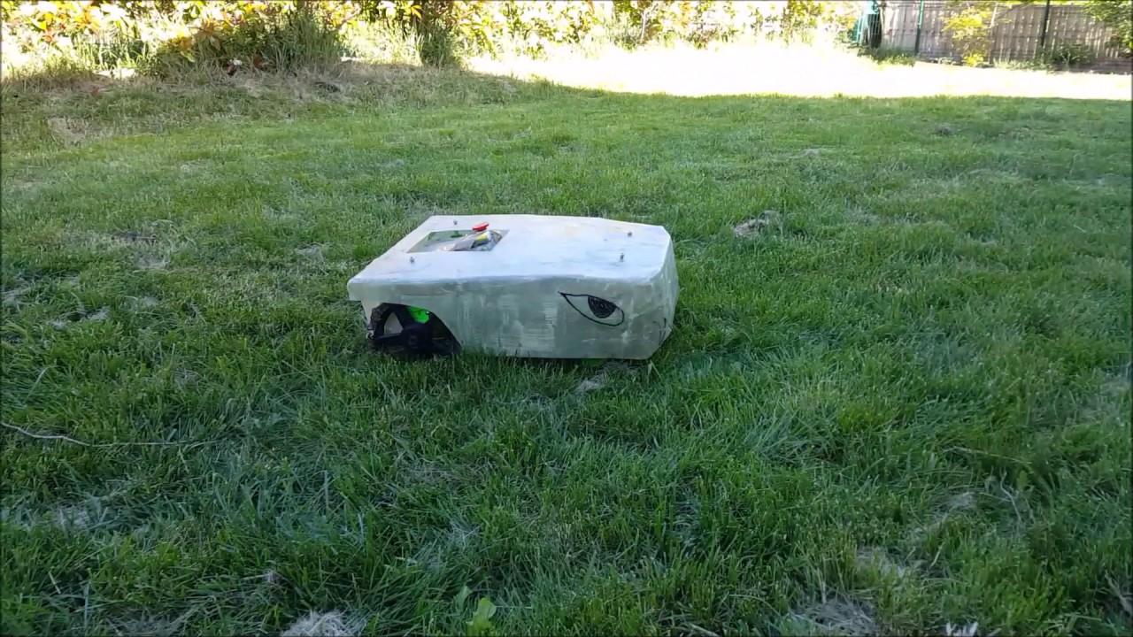 5 robot tondeuse diy raspberry coupe sur herbe 10cm robot lawnmower diy diy lawn mower. Black Bedroom Furniture Sets. Home Design Ideas