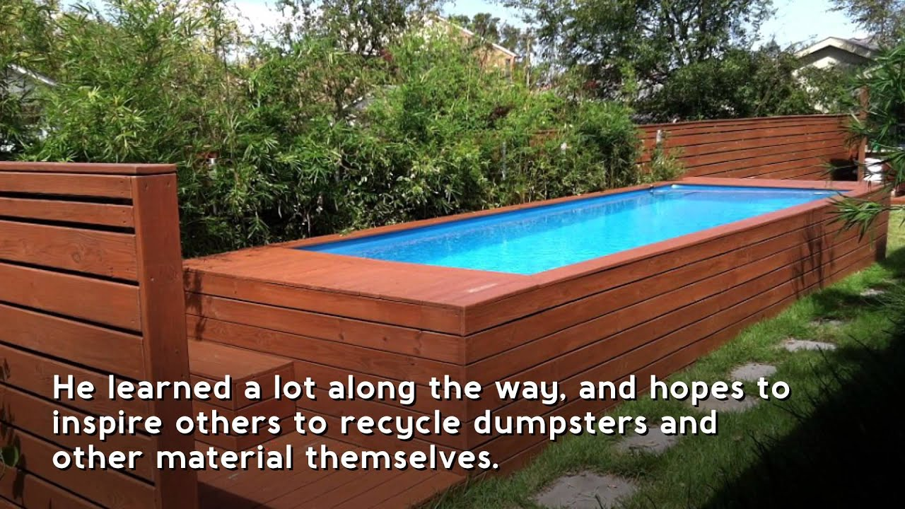 Chic Diy Dumpster Pool Creator Reveals How Its Holding Up