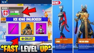 HOW TO LEVEL UP FAST IN FORTNITE SEASON 7 & HOW TO GET TIER 100 EASY! UNLOCK ICE KING SKIN