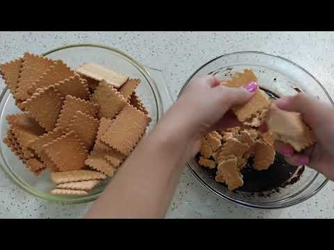 20 deqiqede sobasiz miksersiz asan tort resepti. Mozaik tort resepti  MYFOODCHANNEL