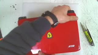 Acer Ferrari One F200 Disassembly / FAN Cleaning