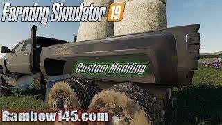Farming simulator 19 - Custom Chevy c4500 6x6 Turbo Diesel!