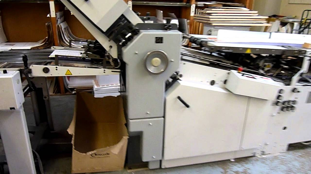 stahl folding machine ti 52 4 4 2006 youtube rh youtube com