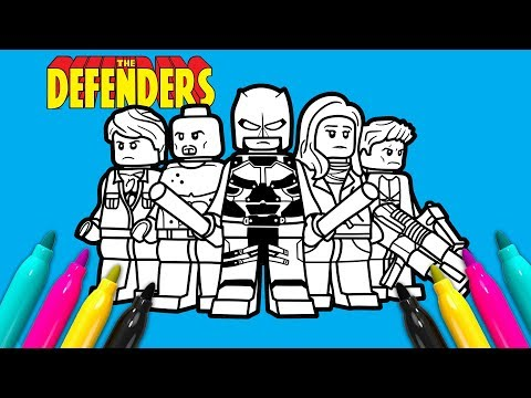 Marvel Defenders Coloring Page | LEGO Coloring Book