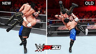 WWE 2K20 Top 10 New Finishers vs Old Finishers!!