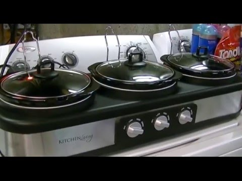 Kitchen Living Slow Juicer From Aldi : Kitchen Living (Aldi) Triple Slow Cooker (2.5 QT) Review - YouTube