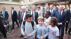 Nicolas Sarkozy en visite à Franconville