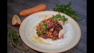 Fresh Ginger Beetrood Salad - Vegan Summer Recipe