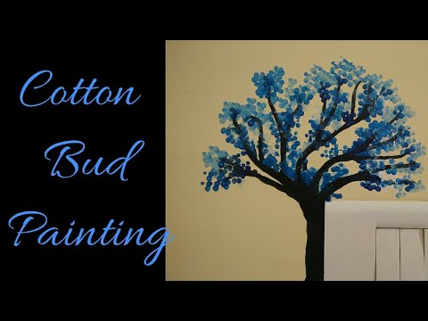 Diy Wall Painting Cotton Swabs Painting Technique Painting With Cotton Buds Switchboard Paint