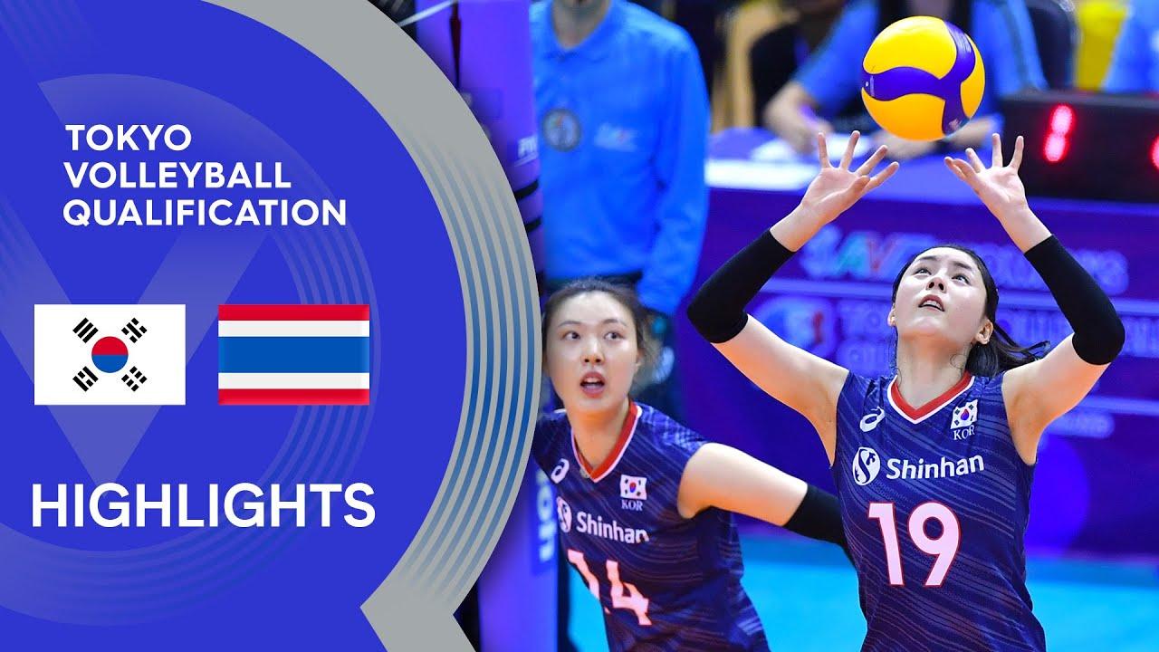 Korea vs. Thailand - Highlights | AVC Women's Tokyo Volleyball Qualification 2020