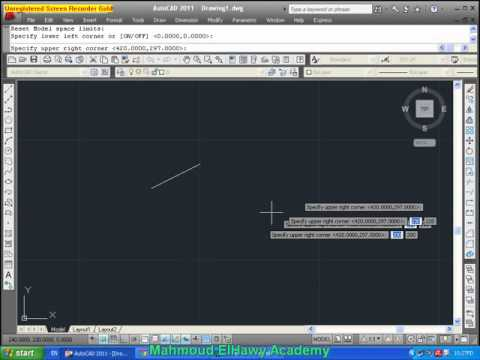 how to set drawing limits in autocad