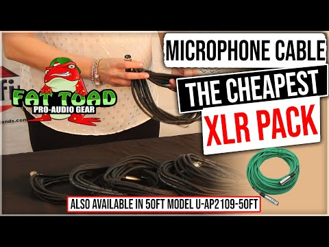Fat Toad XLR Microphone Cable Review and Product Demonstration Model AP2109