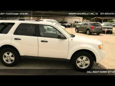 2011 ford escape xlt sport utility 4d for sale in la vernia tx 78121 youtube. Black Bedroom Furniture Sets. Home Design Ideas