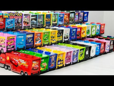 Learning Color Disney Cars Lightning McQueen Mack Truck Play for kids toys