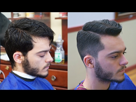 Classic Haircut And Beard Shape Up Youtube