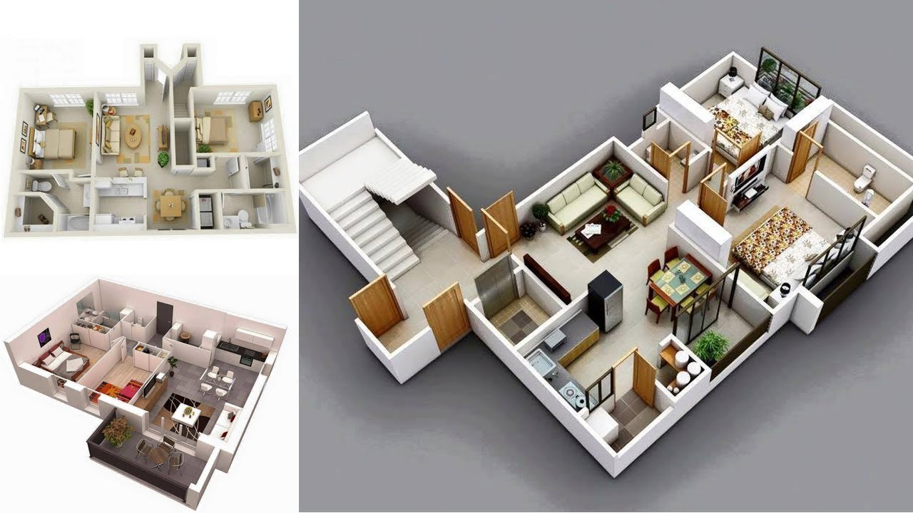 Amazing 3D Apartment Interior Designs Ideas (3/4 ) - YouTube