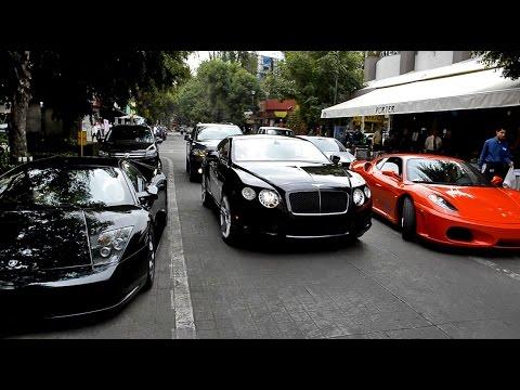 Lamborghini, Ferrari & Bentley en Polanco - México