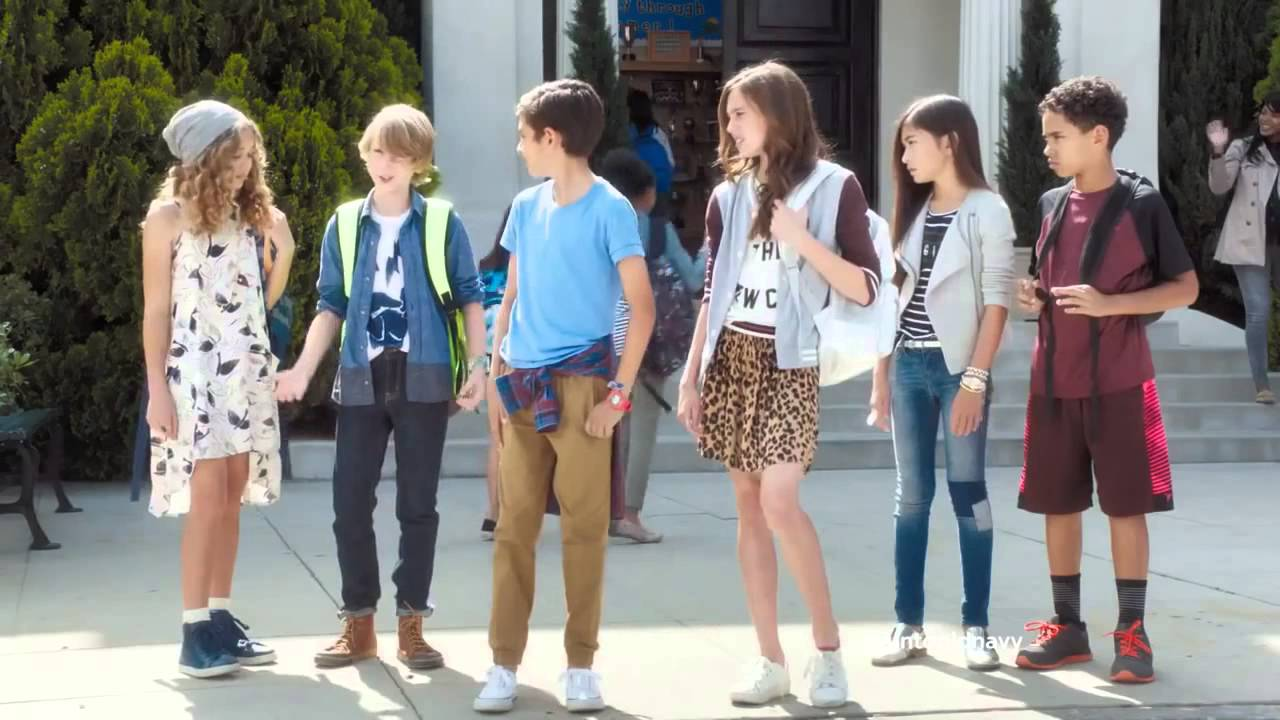 dd3f4e0a1 Old Navy First Day of School Style tv commercial ad HD • Julia Louis ...