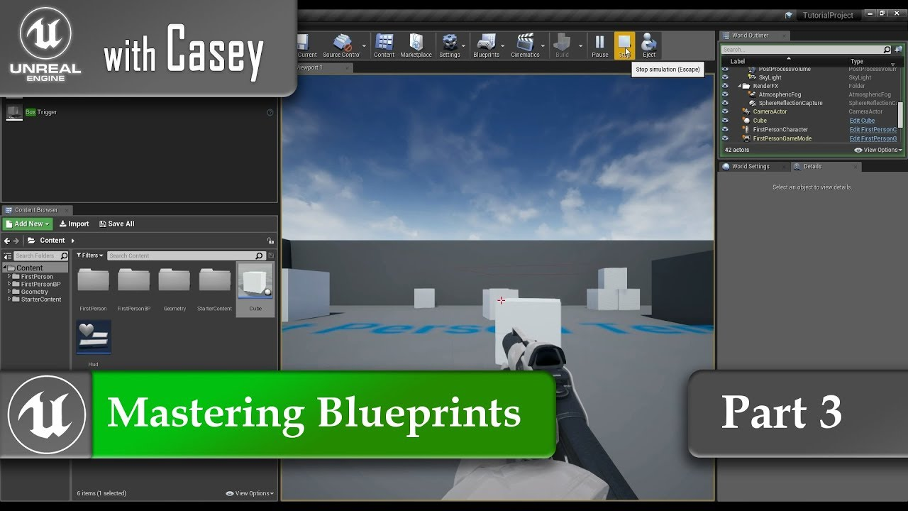 UE4 With Casey - Mastering Blueprints - Part 3 - Vector Math