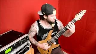 DIVITIUS - Spacey Deathcore Sweep Riff / JACKSON USA B8