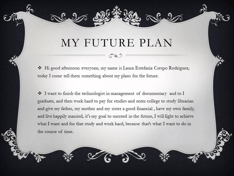 my future plan essay english pdf