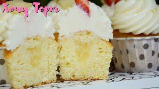 Домашние йогуртовые КАПКЕЙКИ Очень ВКУСНЫЙ йогуртовый бисквит для торта и капкейков Хочу ТОРТ