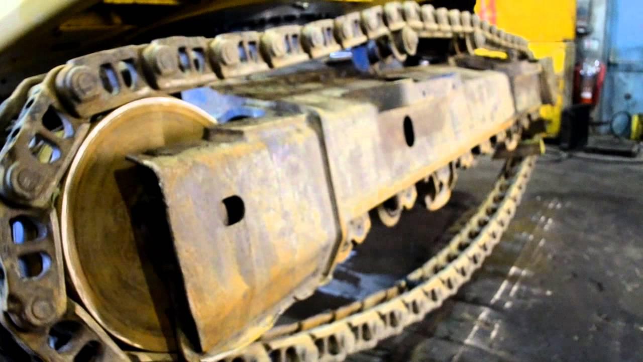 Undercarriage Ireland How To Install Replace Komatsu Pc210lc Pc75uu 1 Wiring Diagram Excavator Tracks Youtube