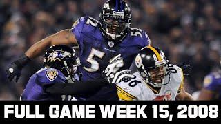 A Rivalry Begins! Steelers vs. Ravens Week 4, 2008 Full Game