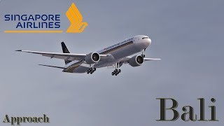 FSX HD 2018 | Boeing 777-300 ER | Singapore Airlines Approach Bali