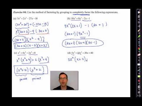 Common Core Algebra II.Unit 6.Lesson 5.Factoring by Grouping