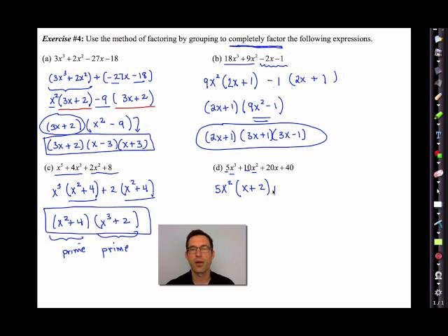 Common Core Algebra II Unit 6 Lesson 5 Factoring by Grouping - YouTube