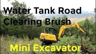 clearing-hillside-for-water-tank-with-new-excavator