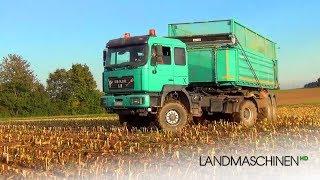 Mais häckseln mit Claas Jaguar 940 & MAN, Fendt...