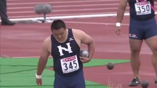 8 鈴木 愛勇 東 京 日本大 16m34 男子 砲丸投 決勝 □競技時刻 : 2014/06...