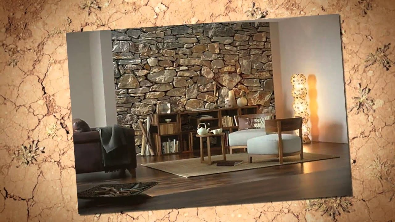 Brick wallpaper decorate your room with brick youtube for Living room decor ideas with wallpaper
