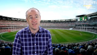 Gerard Whateley touching words on Neale Daniher
