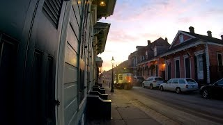 ⁴ᴷ⁶⁰ Walking New Orleans (Narrated) : French Quarter at Sunrise (Bourbon Street, Frenchmen Street)