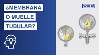 ¿Cómo funciona un manómetro? | Muelle tubular vs. Sistema de membrana