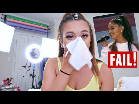 Ariana Grande Makeup Tutorial COMPLETE FAIL....