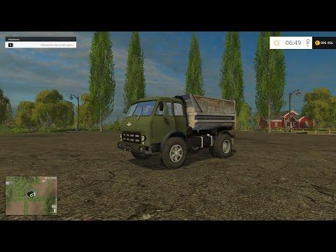 Farming Simulator 15 МОД ГРУЗОВИК МАЗ MAZ 500 САМОСВАЛ