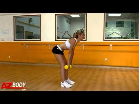 Musculation pour femme soulev de terre jambes tendues avec halt res youtube - Photo jambe femme ...