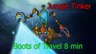 DoTa 2 How To Jungle Tinker Boots of Travel 8 minutes