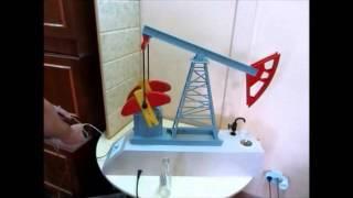 действующий макет нефтяной качалки с электрическим дозатором напитков