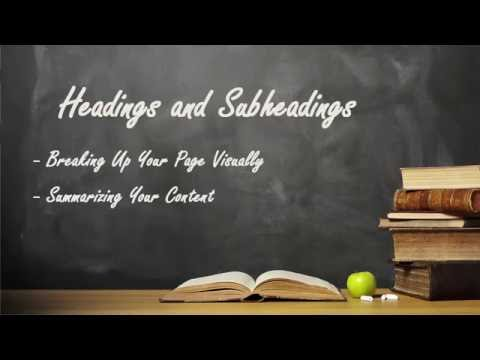 How To Use Headings And Subheadings For SEO And Improved Readability In Your Web Content