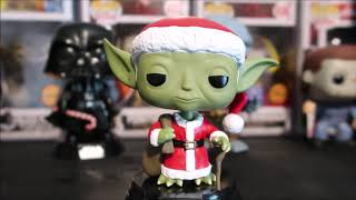 STAR WARS YODA SANTA FUNKO POP BOBBLEHEAD HOLIDAY XMAS REVIEW #STARWARS