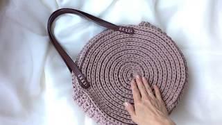 Видео обзор круглой сумки «Дайана» из трикотажной пряжи